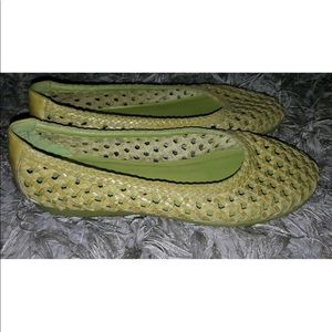 NICOLE Leather weave slip on 8.5M Made in Brazil